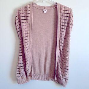 Tan Crochet Medium Shrug